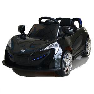 Roadster mit 2x Motoren mp3 LED Elektro Kinderauto Kinder Auto Elektroauto SCHW.