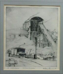 ORIGINAL-ETCHING-034-THE-SLAG-CRUSHER-034-BY-WILLIAM-SIDNEY-CAUSER-SIGNED