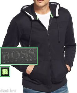 Image is loading NWT-Hugo-Boss-Green-Label-LOGO-Full-Zip-