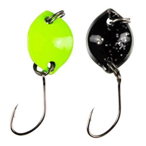 FTM Trout Spoon Forellenblinker Bottom Spoon 705 UV Chartreuse Schwarz 1,6g UL