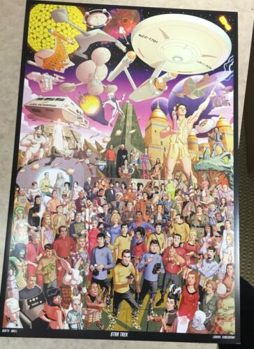 """Star Trek The Original Series"" mini print By Dusty Abell"