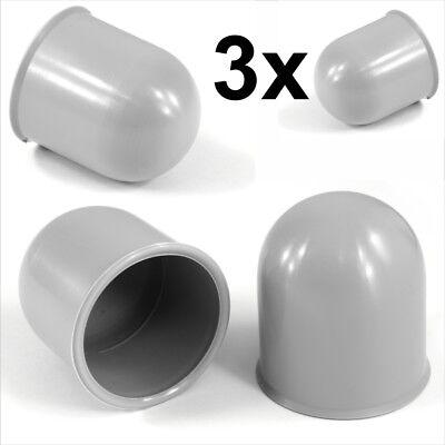 3x 50mm Blue Tow Ball bar Cap Cover Towing Car Caravan Trailer Towball hitch x3