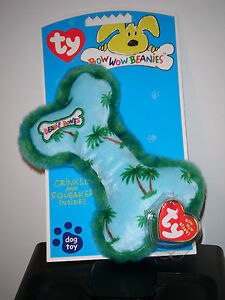 44b0ca8f2a0 Ty Bow Wow Beanies ~ PALM TREES BONE - Crinkle Squeak Toy (6.5 Inch ...
