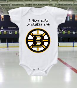 Boston Bruins Onesie Bodysuit Shirt Born A Fan
