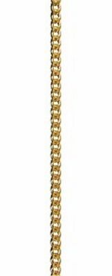 NEW Solid 9ct 9k Yellow Gold Bevelled Curb Diamond Cut Ladies Chains Necklaces