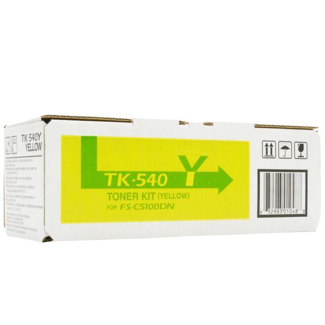 Original Kyocera Tk-540Y TK540Y Yellow 1T02HLAEU0 FS-C5100DN New B
