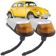 VW BUG Turn Signal Light 2pcs Assembly Amber Lens VOLKSWAGEN BEETLE 1964-1974