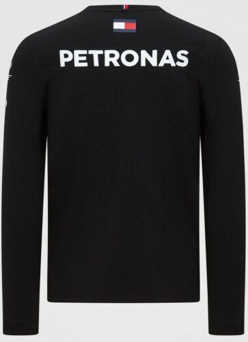 Mercedes-AMG Petronas Motorsport 2020 Men/'s Team Long Sleeve T-Shirt Black BNWT