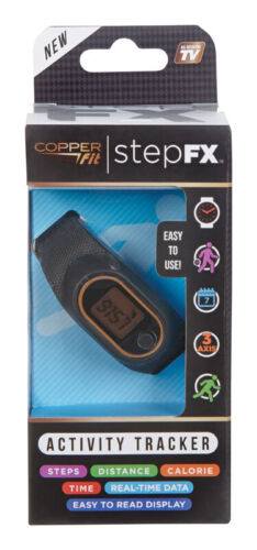 Copper Fit Step FX Activity Tracker Black 1 Count BNIB FREE SHIP 754502029877