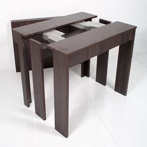 Tavolo consolle allungabile rovere moro unika cucina for Consolle tavolo