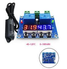 1x Dc 12v Dual Digital Led Temperature Amp Humidity Control Thermostat Probe