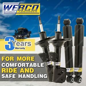 Front + Rear Webco Max Shock Absorbers for HOLDEN COMBO XC Van Sep-02-on