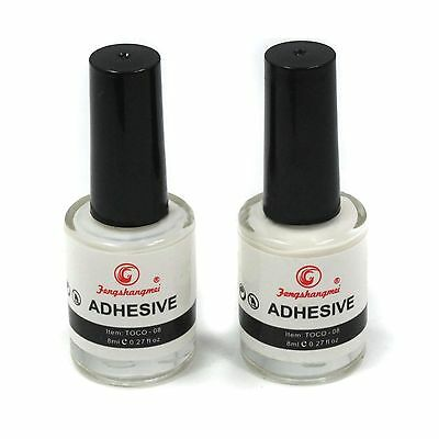 2PCS White Glue Adhesive for Galaxy Star Foil Sticker Nail Art Transfer Tips