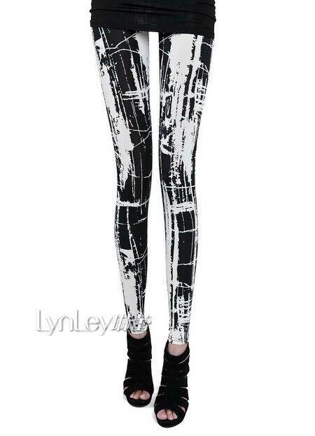 Japan fashion Punk Gothic Rock Visual kei women's girl's Graffiti pants leggings