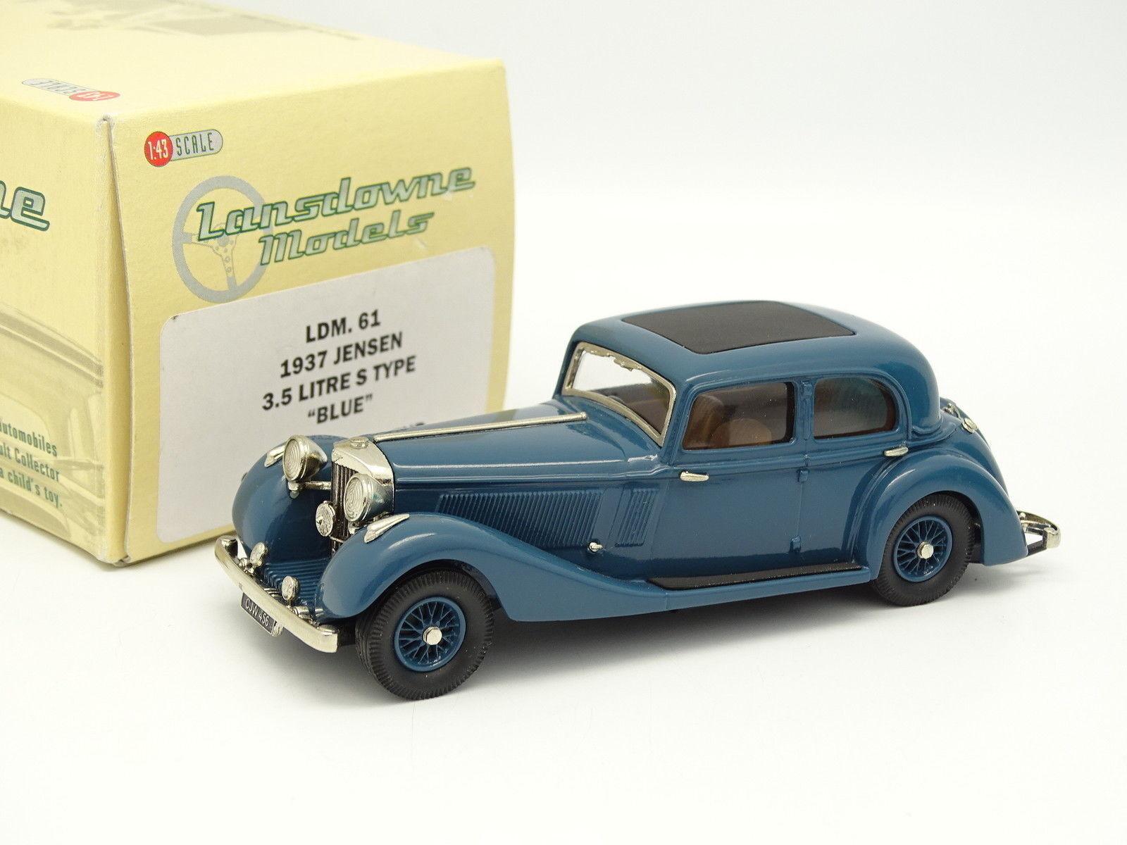 Lansdowne Modelli 1 43 - JENSEN 3.5L S tipo 1937 blue