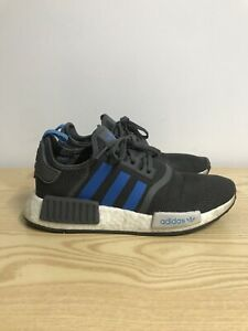 Details about Adidas NMD R1 Grey & Blue Mens Boys Trainers Size 5 Gym Trainers Running B46