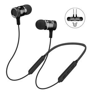 Wireless-Bluetooth-V5-0-Headphone-Magnetic-Headset-Neckband-Earphone-Earbuds-Mic