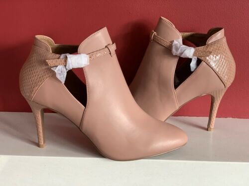 NEXT FOREVER COMFORT High Heels Boots Size Uk 6 Nude NEW