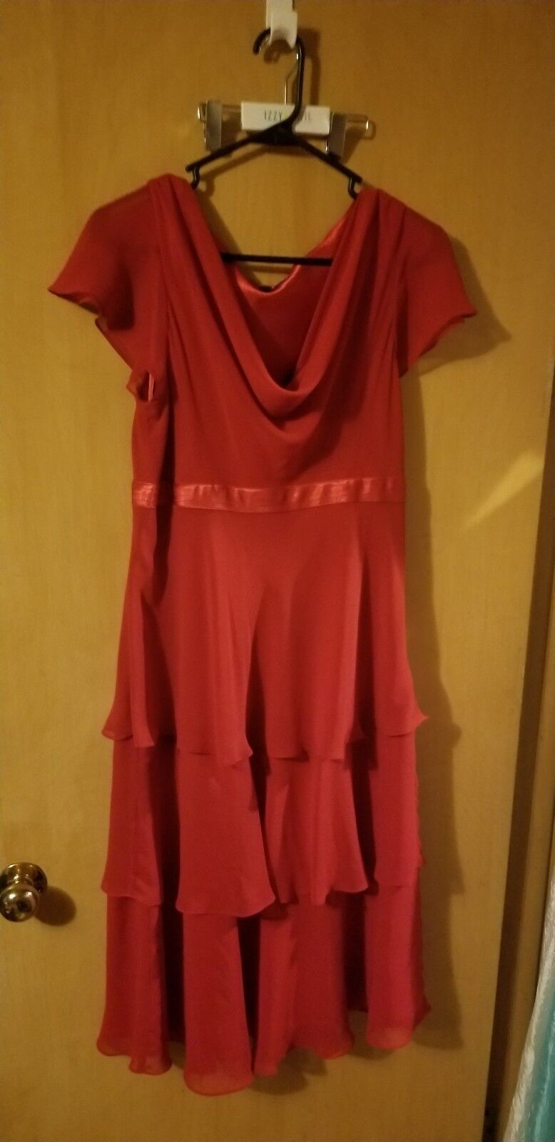 Vintage Bice 3 tiered layered  Ruffles Dress Red Dress Size 12