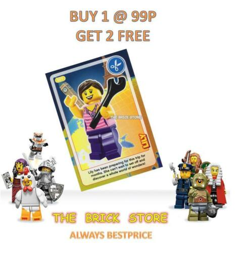 LEGO #001 LILY W// SPANNER CREATE THE WORLD TRADING CARD NEW BESTPRICE GIFT