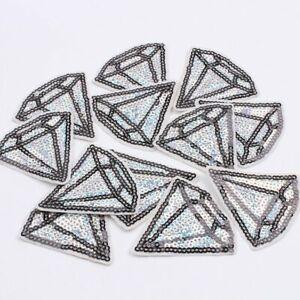 Sequin-Diamond-Iron-On-Patch-Cute-Shape-Applique-Crafts-Badge-Patches-HD196