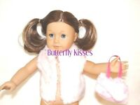 Pink Fur Vest + Matching Purse Fits 18 In American Girl Doll Clothes