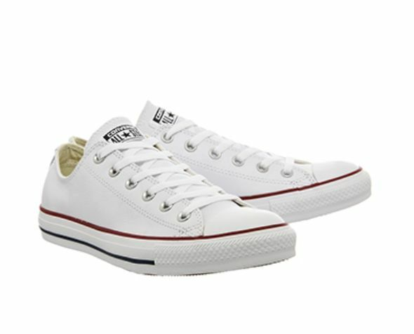 Mens Womens Branded Converse Optical White Leather 132173c Sizes 3-11 UK 10  EUR 44 for sale online  8b40ee75cc