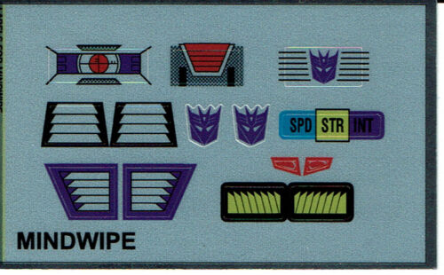 STICKERS G1 DECEPTICON PARTS MINDWIPE REPRO LABELS TRANSFORMERS GENERATION 1