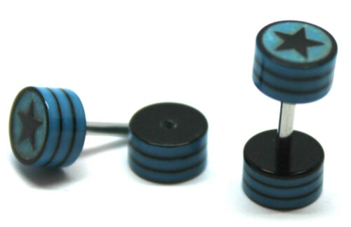 Fake Acrylic Cheater Expander Ear Stud Studs Plug Earrings Stretcher