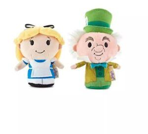 Hallmark-itty-bittys-Disney-Alice-in-Wonderland-and-Mad-Hatter-Stuffed-Animals