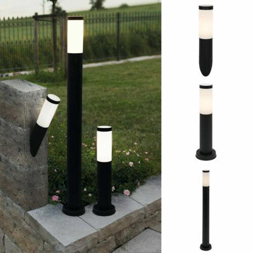 LED Gartenleuchte Edelstahl schwarz Wandleuchte Standleuchte Pollerleuchte E27