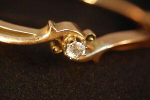 1910 Deutschland Armband Und Brosche Gold 585 Mit Altschliffdiamanten 2 X 0,3 C Die Nieren NäHren Und Rheuma Lindern