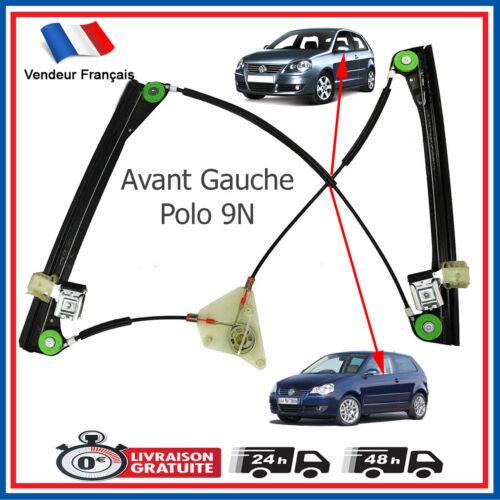 Mecanisme de Leve Vitre Electrique Avant Gauche VW Polo 9N 3 Portes 6Q3837461A