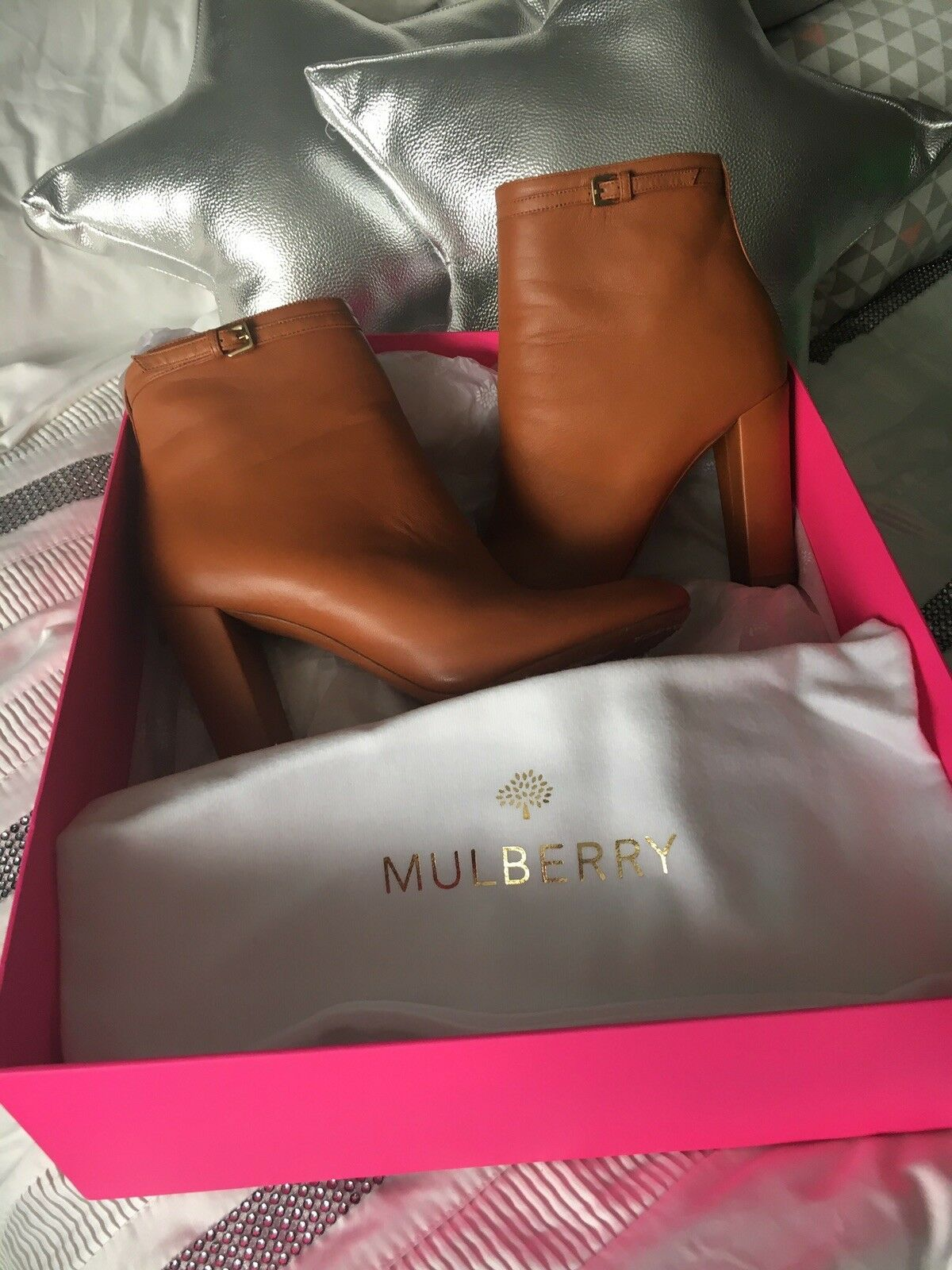 Mulberry Leather Boots with box
