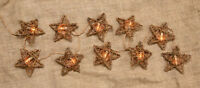 Country Primitive Grapevine Star Twig Garland Clear White Lights Indoor