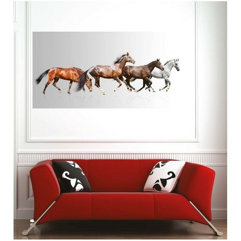 Plakat Plakat 4 Pferde 45806236 Kunst Deco Aufkleber