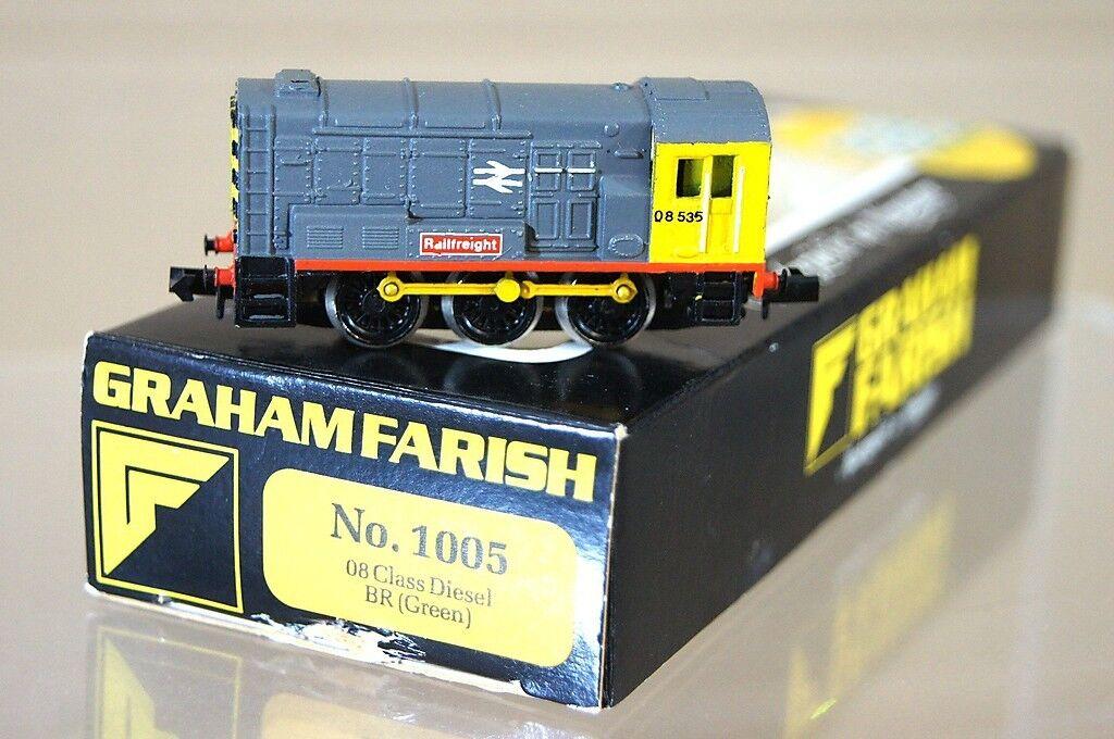 GRAHAM FARISH 1005 KIT KIT KIT BUILT CJM RAILFREIGHT 0-6-0 CLASS 08 SHUNTER LOCO 08535 m e41649