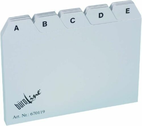 Büroline Leitregister A7 A-Z PP 25-tlg Leitkarten Karteikarten-Register 670119