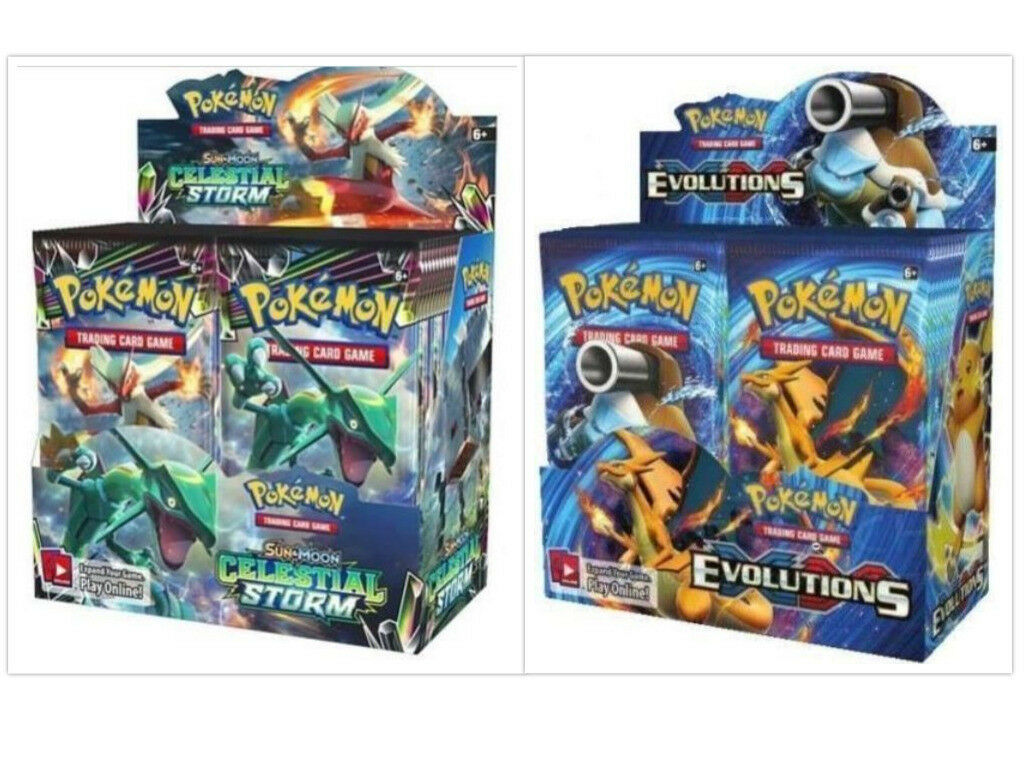 Pokemon TCG TCG TCG Sun & Moon Celestial Storm + Evolutions Booster Box Bundle f5ae33