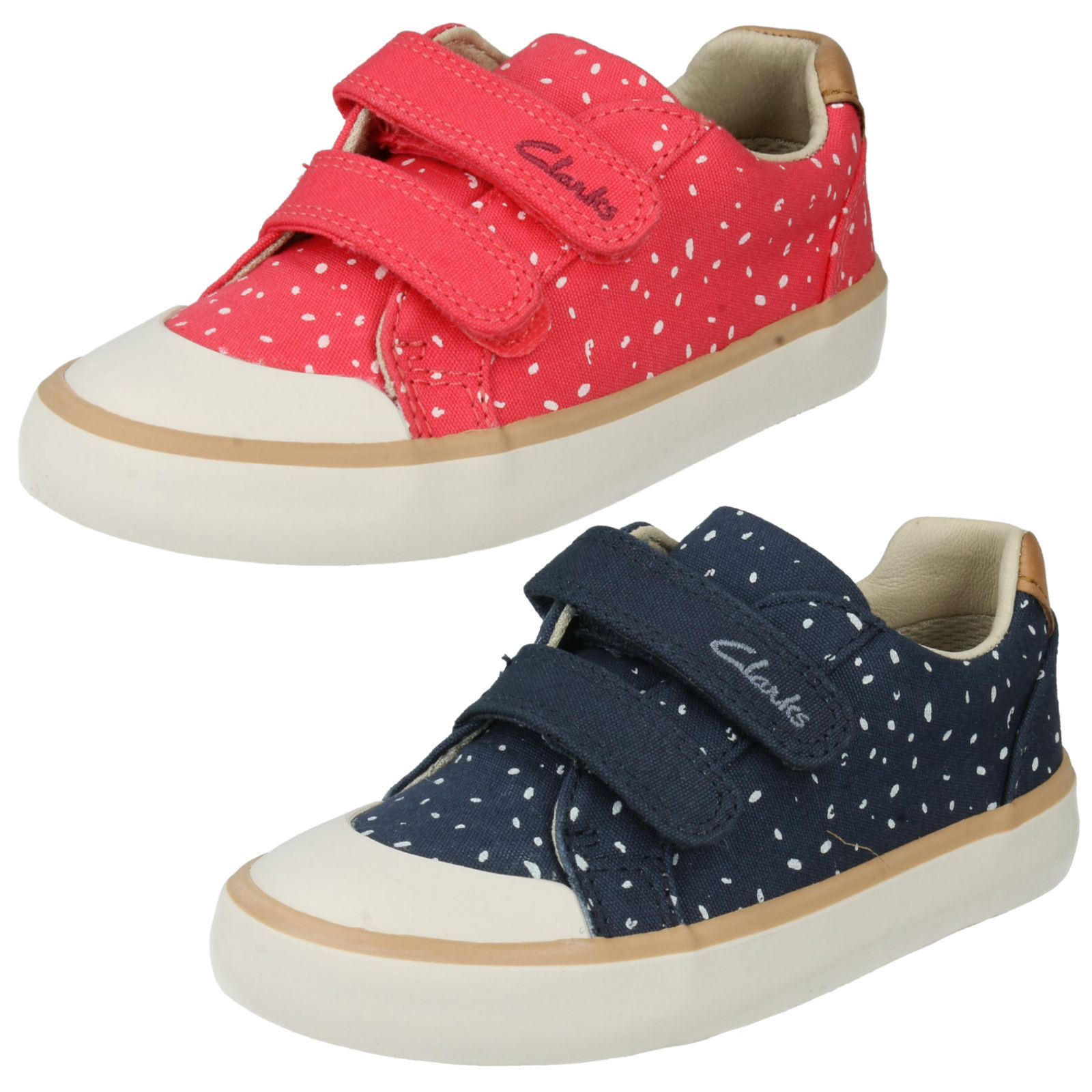 Girls Clarks Canvas Shoes Comic Cool