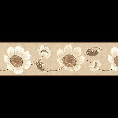 carissa beige floral wallpaper border