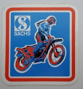 Fan-Aufkleber Sachs Enduro MX Motocross 70er Fichtel Motor Sports Motorcycle