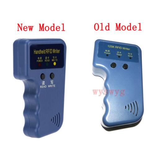 Upgrade 125KHz H//E 2 in 1 Card Fob Copier Duplicator Free 5 Writable Grey Fobs
