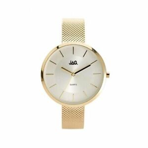 Jag-Ladies-Silver-amp-Gold-Mesh-Watch-J2055A-3-Hands
