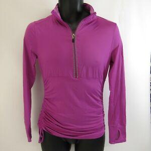 Bien Kyodan Running Shirt S Femme Rose Pouce Trous Athlétique Manches Longues Stretch-afficher Le Titre D'origine