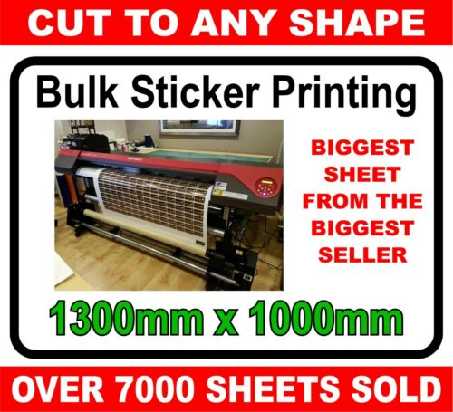 Custom printed vinyl stickers labels graphics UNLAMINATED