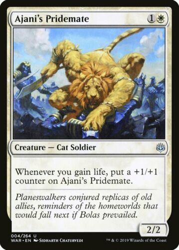 MTG Magic Card 1 x Ajani/'s Pridemate WAR Uncommon #4 Mint