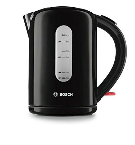 Bosch TWK76033GB Noir Sans Fil Jug Kettle 3000 W Fastboil Flip Couvercle