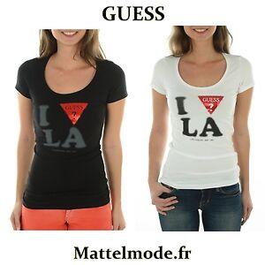 Chargement de l image Tee-shirt-Guess-Femme-manches-courtes-W44I10-Noir- 1ea4e7b95a0