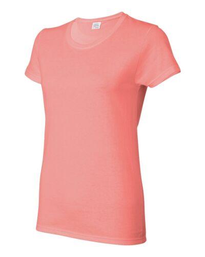 Gildan Ladies Heavy Cotton Short Sleeve T Shirt Womens S M L XL 2XL 3XL 5000L